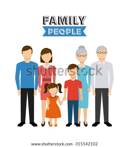 family people design, vector illustration eps10 graphic  - stock vector
