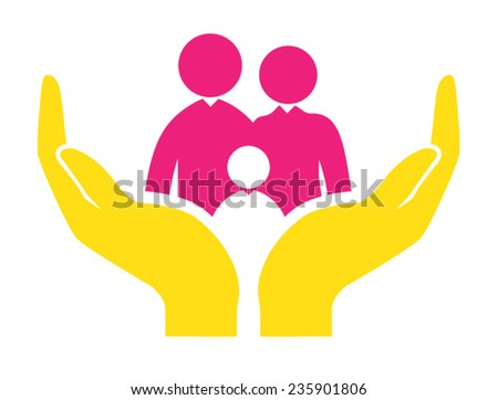 Family Protection - stock vector