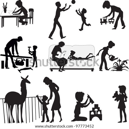 family rest - stock vector