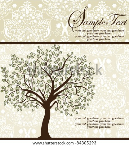 Family Reunion Invitation Card Stock Vector 97868489 - Shutterstock