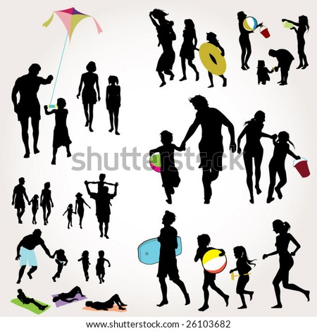 family's day - stock vector