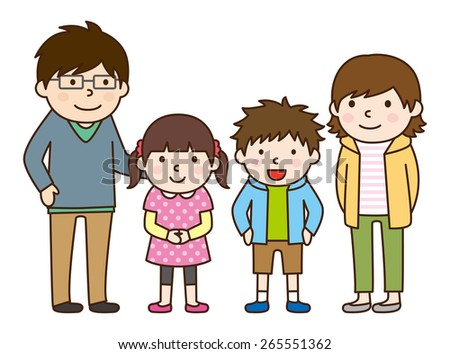 Family set / Parent and child  - stock vector