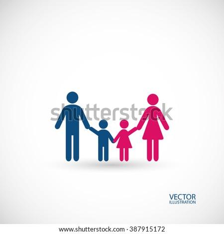 Family symbol. Vector illustration. - stock vector