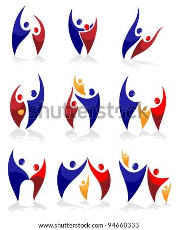 Family symbols-set - stock vector