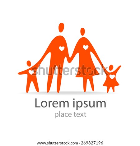 Family - template logo design. Vector sign. - stock vector
