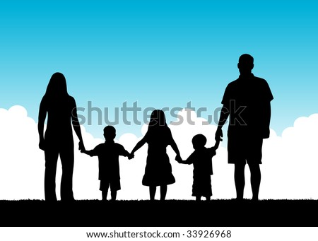 Family Togetherness Vector - stock vector