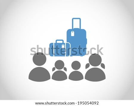 family traveling - stock vector