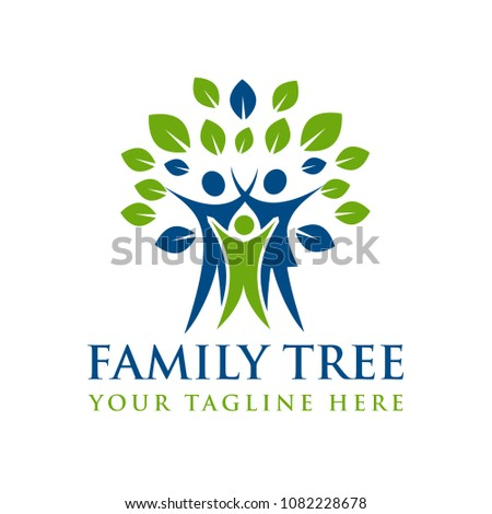 Family Tree Creative Concept Logo Template Stock Vector 1082228678