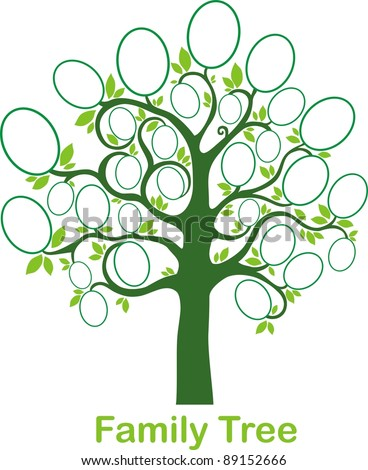 stock-vector-family-tree-frames-empty-for-your-input-vector ...