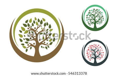 Family Tree Logo Template Vector Icon Stock Vector 546313378