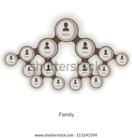 Family tree of the icons. vector illustration - stock vector