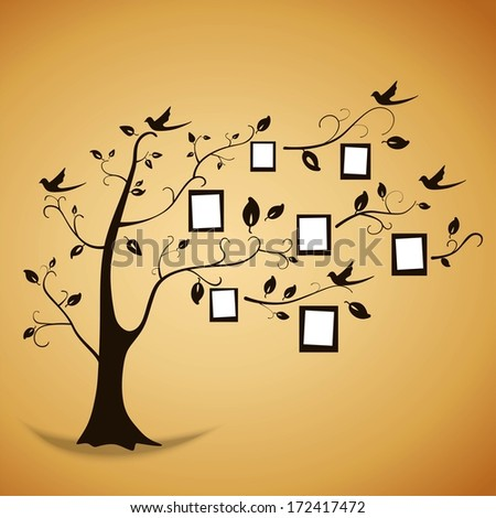 family tree of the photos - stock vector