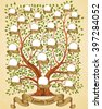 Family Tree template vintage vector illustration - stock vector
