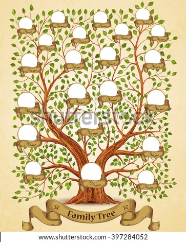 ... design hand drawn oak tree concept illustration family tree human tree