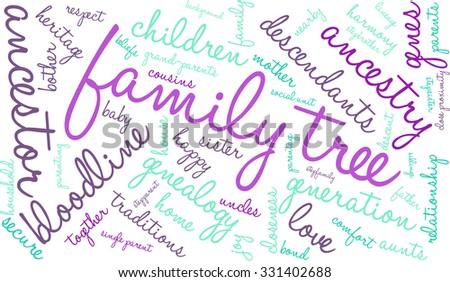 family tree word