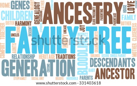 family tree word cloud on white stock vector 331403618 shutterstock