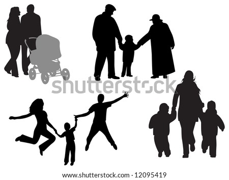 family vector - stock vector