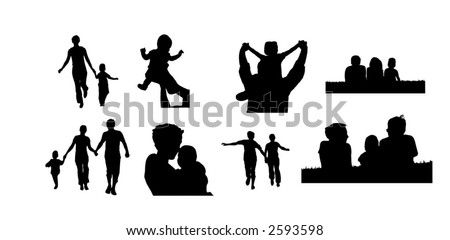 family vector - stock vector