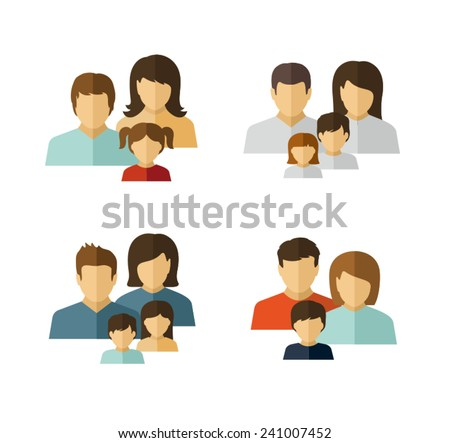 Family Vector Flat Icon  - stock vector