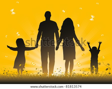Family. Vector illustration - stock vector