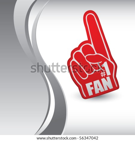 fan hand vertical silver wave - stock vector