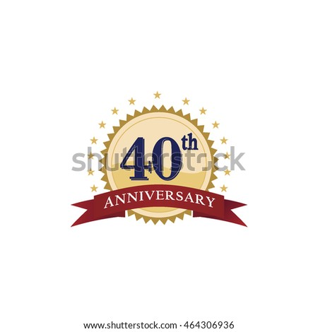 fancy anniversary logo vector