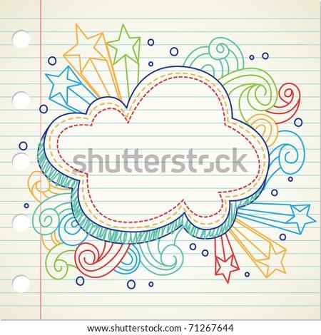 fancy doodle - stock vector