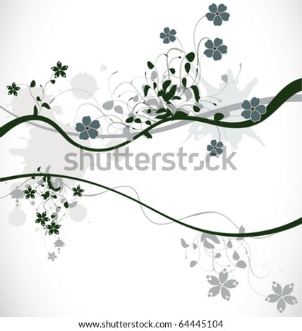 Fancy floral background, vector illustration