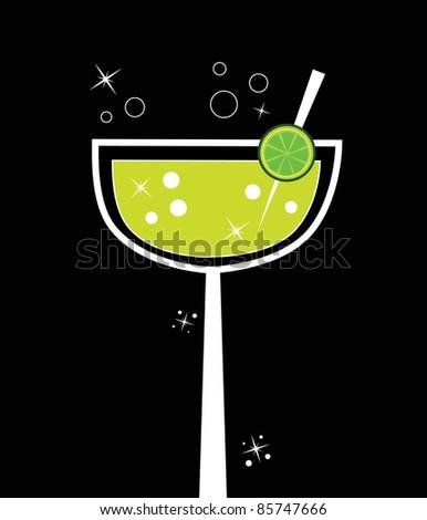 Fancy Margarita - stock vector