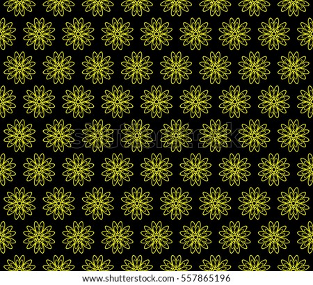 Green Seamless Floral Spring Background Stock Vector
