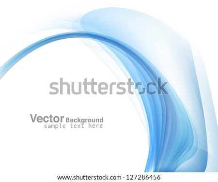 Fantastic blue colorful technology wave vector - stock vector