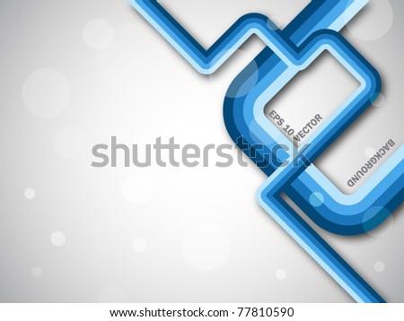 Fantastic blue lines - stock vector