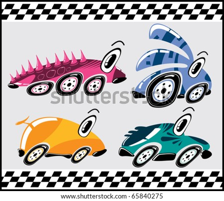 Fantastic cars - stock vector