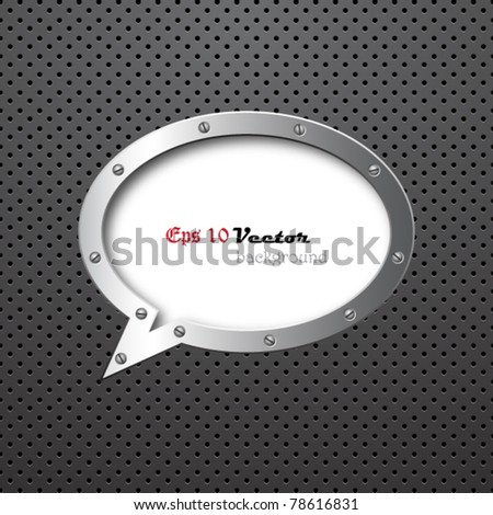 Fantastic metal background - stock vector