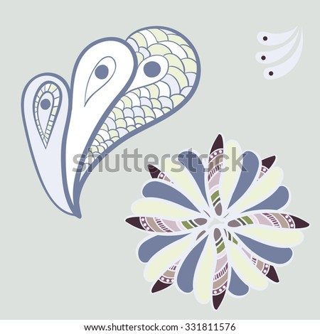 fantasy abstract flower - stock vector