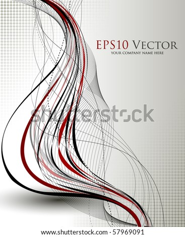 Fantasy background composition - vector illustration - stock vector