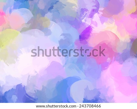 Fantasy soft violet clouds. Abstract illustration. - stock vector
