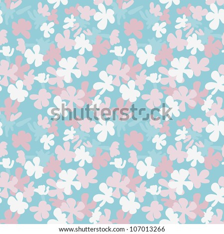 Fantasy stylized flowers vector seamless pattern. Made in fresh pastel tones.