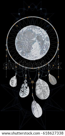 Can Dream Catchers Get Full Fantasy Unusual Dream Catcher Leaves Full Stock Vector 40 12