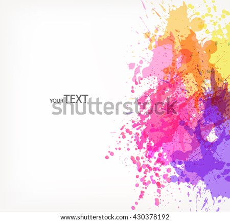 Fantasy  vector background with colorful floral elements and blots.