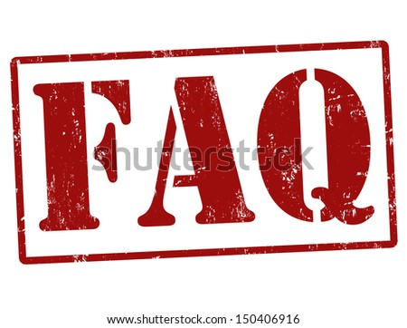 FAQ (Frequently Asked Questions) rubber stamp over a white background, vector illustration - stock vector