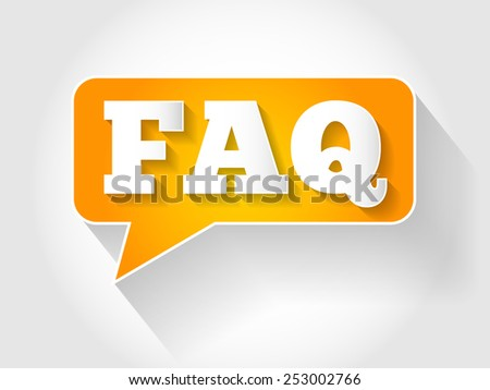 FAQ, question and answer message bubble, business concept - stock vector