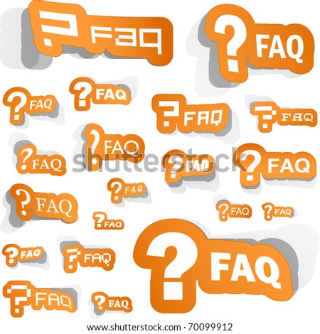 FAQ sticker collection. Great collection.