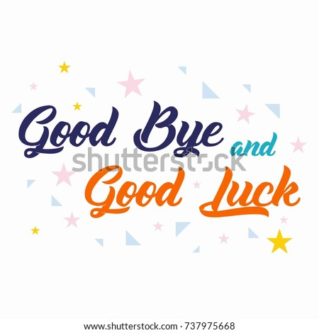 farewell banner template - farewell card all best template stock vector 737975668