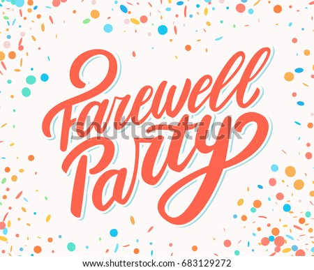 Farewell party stock images royalty free images vectors for Farewell banner template