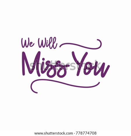 Farewell party template we will miss stock vector 778774708 farewell party template we will miss you party invitation card design stopboris Choice Image