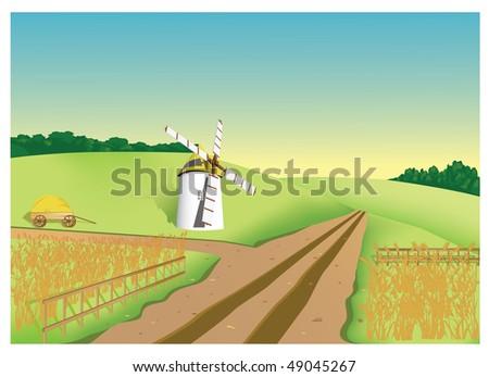 Farm - stock vector