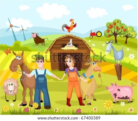 farm - stock vector