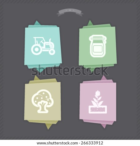Farm (agriculture) signs, from left to right, top to bottom:  