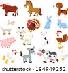 Farm animal collection set - stock vector